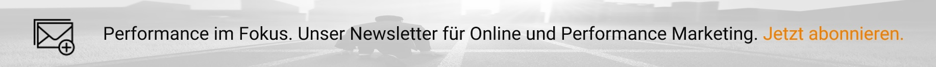 Zum ad agents Newsletter anmelden - Online und Performance Marketing im Fokus